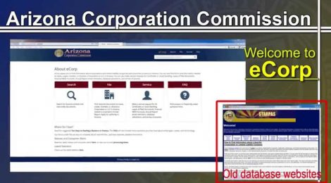 Arizona Corporation Commission eCorp Introduction